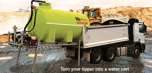 tipper truck water tank