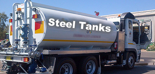 Custom built steel water tanks