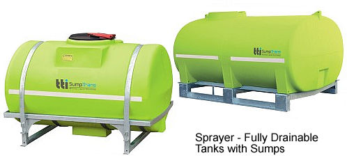 drainable spray tanks